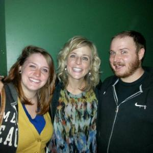John and I as of last October, with Maria Bamford