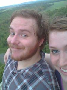 When we first met, and we would go hiking regularly